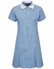 THRUMSTER  PRIMARY SCHOOL NAVY GINGHAM DRESS